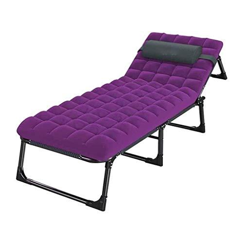 FTFTO Productos para el hogar Cama Plegable con Almohadas Reutilizables de 300 kg Cama Individual para la Siesta de la Oficina Cama para el Ocio