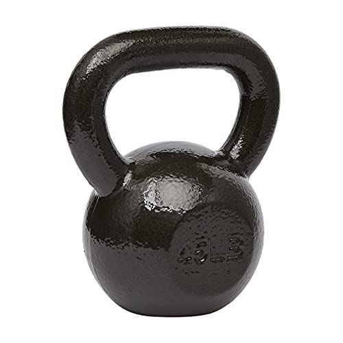Amazon Basics Cast Iron Kettlebell - 35 Pounds, Black