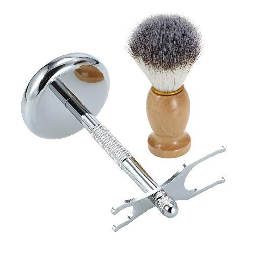 Festnight Chrome scheer- en borstelstandaard met baardborstel-veiligheidsstandaard verleng de levensduur van je scheermes met een veelvoud