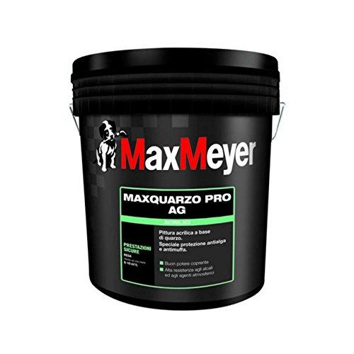Maxquarzo Pro AG pittura al quarzo antialga e antimuffa bianco per esterni 14 litri Max Meyer