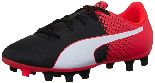 PUMA Evospeed 5.5 Tricks Fg JR Skate Shoe, Puma Black/Puma White, 4 M US Big Kid