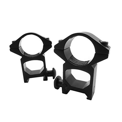 Rayline Softair Ringe 24mm Montage Aluminium Zubehör Airsoft Visier Scope Zielfernrohr Halterung Gewehr Pistole Stabilität 2er Set Schiene Weaver
