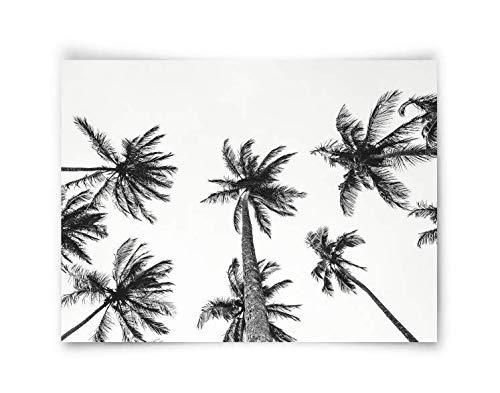Tropical Palm trust Tree Print Printable wall Pa Black Art White Ranking TOP11 and