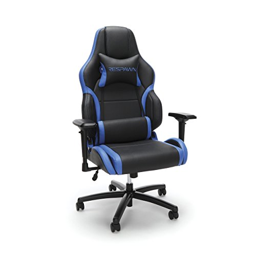 RESPAWN 400 Big and Tall Racing Style Gaming Chair, in Blue (RSP-400-BLU) blue chair gaming