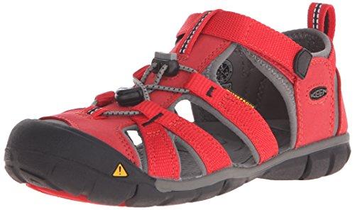Keen Unisex-Kinder SEACAMP II CNX Sandalen Trekking- & Wanderschuhe, Racing Red/Gargoyle, 29 EU