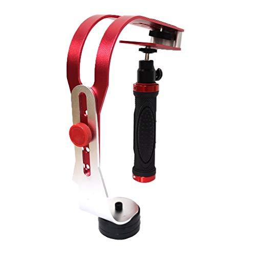 jfhrfged Handheld Stabilizer Gimbal für Gopro Digitale Spiegelreflexkamera Digitalkamera Sport DV Aluminium Ausrüstung Kamera Digitale Spiegelreflexkamera Universal (rot)
