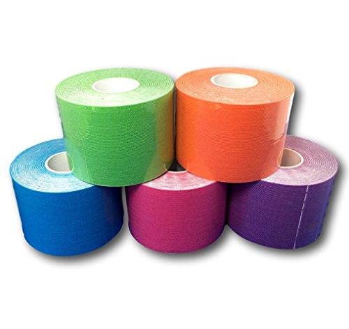 LisaCare Kinesiologie Tape | elastisches Klebeband | Physio, Sport & Medizin | Mix (2)