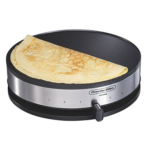 Proctor Silex 38400 Electric Crepe Maker, 13 Inch Griddle & Spatula
