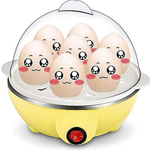 Thuis Elektrische Eierkoker, 7 Egg Capaciteit Omelette Maker Met Automatische Timer Steamer Inbegrepen Meten Van Kop,Yellow