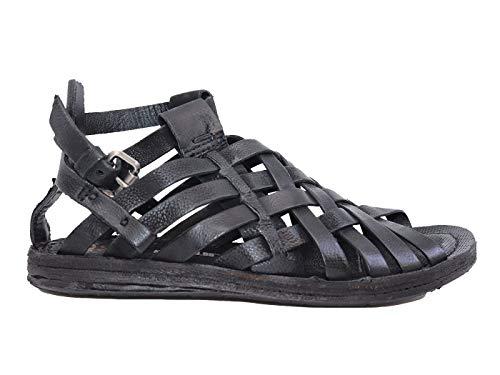 A.S. 98 534076 - Sandalias bajas, de piel negra Negro Size: 36 EU