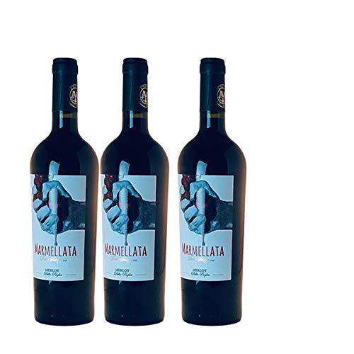 Rotwein Italien Merlot Marmellata lieblich(3x0,75L)