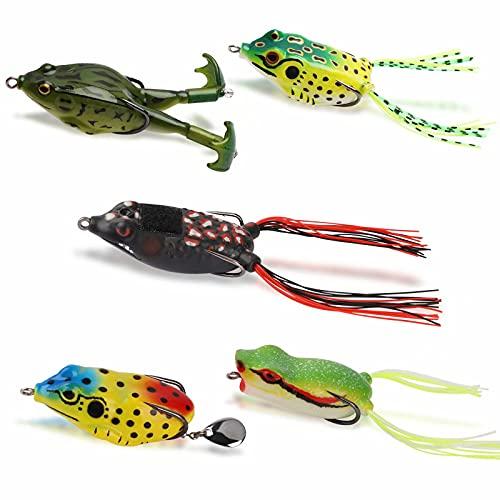 Dovesun Topwater Fishing Frog Lure Kit Freshwater Fishing Lures Kit...