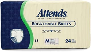 Attends Care Advanced Briefs with Odor-Shield for Adult Incontinence Care, Medium, Unisex, 1 Count