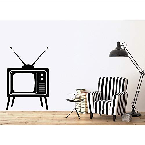 Afneembare Muursticker Grote Oude TV Apparaat met Antennes Vinyl Decal Muurstickers Huisdecoratie Woonkamer Muurschildering 28 * 30cm