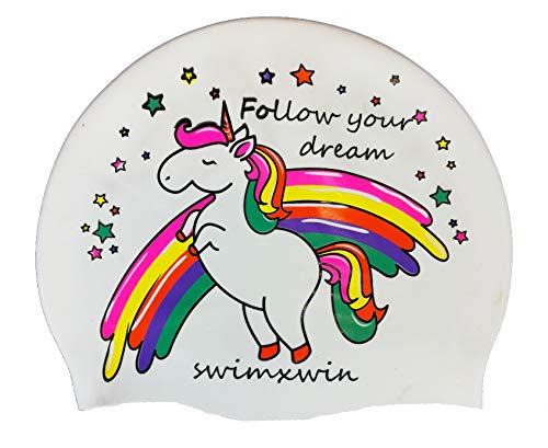SWIMXWIN Cuffia in Silicone Follow Your Dreams | Cuffia da Nuoto|Cuffia da Piscina | Grande Comfort e Aderenza | Design e Stile Italiano