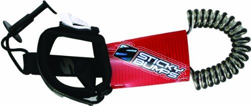 Sticky Bumps Bodyboard Bicep Coiled Leash Clear/Black by Sticky Bumps