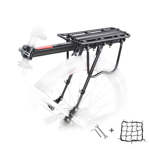 Malayas Bike Rear Rack, Aluminum Bicycle Luggage Rack Cycling Seatpost Rack MTB Luggage Cargo Rack with Reflector