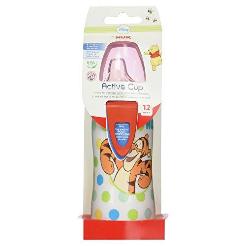 Desconocido Nuk 10255081, Botella Active Cup Winnie the Pooh Silicona Nuk 300 ml 12m+, Modelos/Colores Aleatorios
