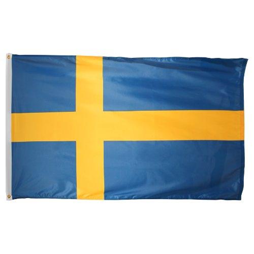 US Flag Store Sweden Superknit Bandera de poliéster, 3 x 5 pies