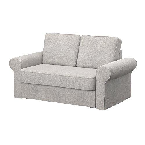 Soferia - IKEA BACKABRO Funda para sofá Cama de 2 plazas, Naturel Beige