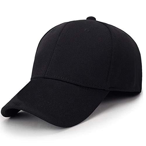 Aavjo Men Women Sun Visor Cap (Fit Head Size, Approx 56-58cm) (Back Side Closed – Black)