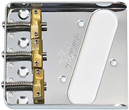 Wilkinson 54mm 2-1//8 inch Chrome String Spacing Threaded Ashtray Telecaster Bridge 3 Saddles for Tele Style Guitar