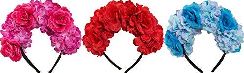 Preisvergleich Produktbild Orlob Kostüm Zubehör Blumenschmuck zu Karneval Fasching Party rot