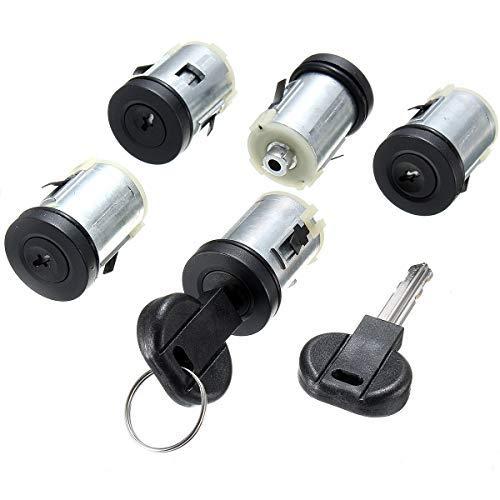 Pro-Plip - Kit de 5 cerraduras para puertas + bombines + Llaves