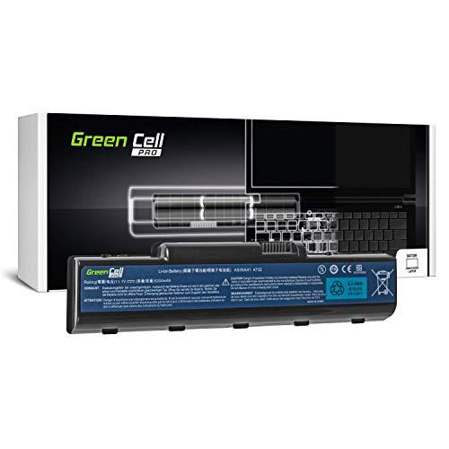 Green Cell PRO Serie AS09A31 AS09A41 AS09A51 AS09A71 Akku für Acer/eMachines/Packard Bell/Gateway Laptop (Original Samsung SDI Zellen, 6 Zellen, 5200mAh, Schwarz)