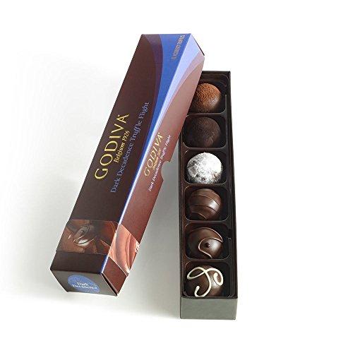 Godiva Chocolatier Assorted Dark Chocolate Truffles Gift Box, 6-Pieces, 3.9 Ounce