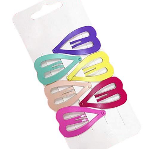 Emorias 1set(6pcs) Accessoires de Cheveux Minimaliste Clip Latéral de Petit Fraîcheur Clip en Métal Mignon Forme de Grand Coeur