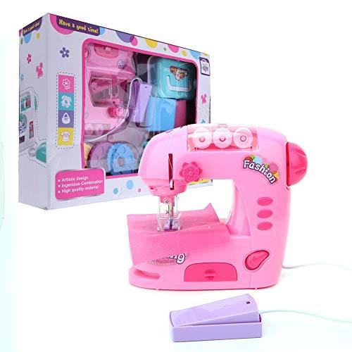 Hongzer Máquina de Coser para niños, Mini máquina de Coser Rosa Juguete para niños Juguete para niños Mini máquina de Coser eléctrica, Juguete Educativo Interesante para niños/niñas