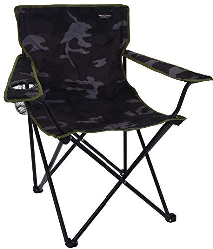 Redcliffs Chaise de camping en acier inoxydable Gris 90 x 60 cm