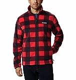 Columbia Steens Mountain Printed Jacket Suéter, Diseño a cuadros rojos, XXL para Hombre