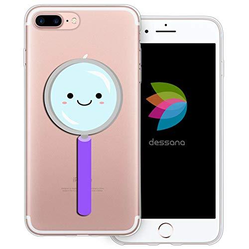 dessana schattige wetenschap transparante beschermhoes mobiele telefoon case cover tas voor Apple, Apple iPhone 7 Plus, Schattig vergrootglas.