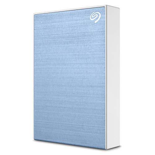 Seagate Backup Plus, 4 To, Disque Dur Externe Portable HDD – Bleu, USB 3.0, pour PC portable et Mac, Abonnement de 4 mois à Adobe Creative Cloud, et services Rescue valables 2 ans (STHP4000402)