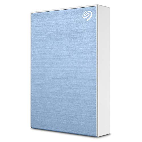 Seagate Backup Plus 5TB External Hard Drive Portable HDD – Light Blue USB 3.0 for PC Laptop and Mac, 1 year MylioCreate, 2 Months Adobe CC Photography (STHP5000402)