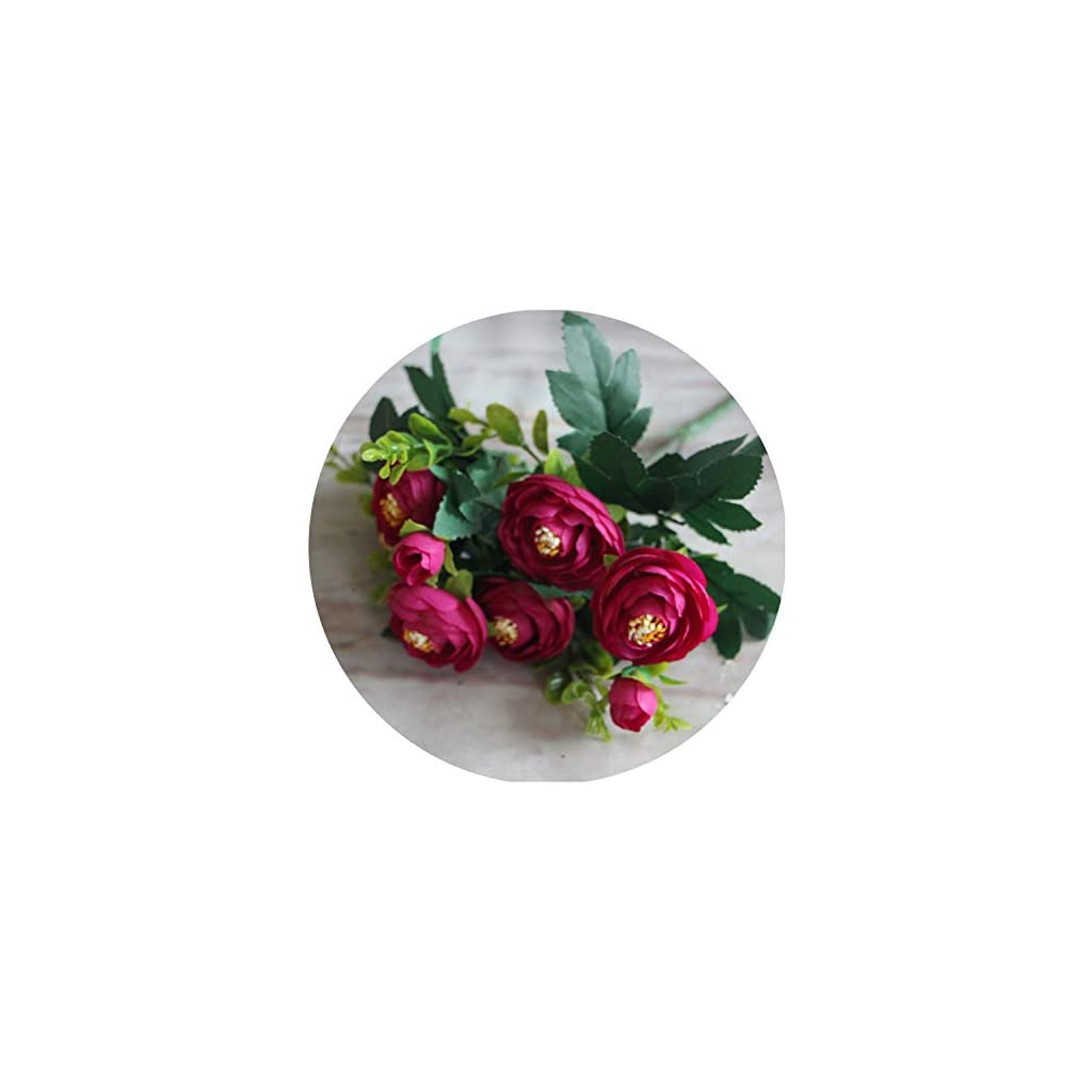 6 Branches Vivid Fake Peony Flower Silk Flower Artificial Flowers Wedding Home Party Decoration Artificial Plants