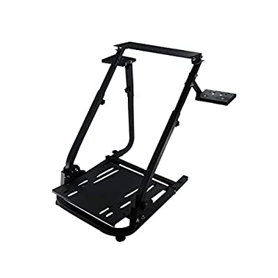 G920 Racing Steering Wheel Stand with Two Shift Levers for Logitech G27/G25/G29/G920 Gaming Racing Simulator Wheel Stand, Without Wheel, Shifter and Pedals