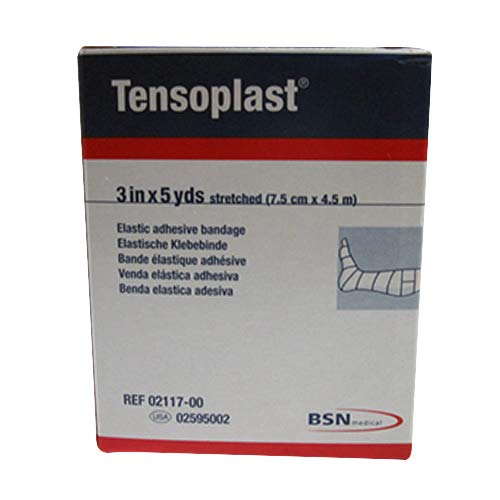 BSN Medical/Jobst 02595002 Tensoplast Elastic Adhesive Bandage, 3' Width, 5 yd. Length, White