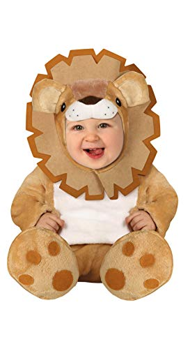 FIESTAS GUIRCA Disfraz león leoncito con Cremallera bebé Talla 6-12 Meses