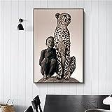 ngitngit Junge Und Ein Gepard Wandkunst Leinwand Malerei