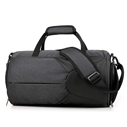 Sports Gym Bag, Breathable Shoe Compartment, Lightweight Large-Capacity Waterproof and Wear-Resistant Shoulder Bag, Suitable for Fitness, Sports, Travel (Black)