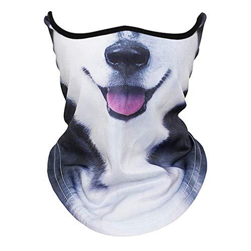 Briskorry Face Shield Bandana Halstuch Mundschutz Multifunktionstuch Staubdicht UV-Schutz Atmungsakti Sommer
