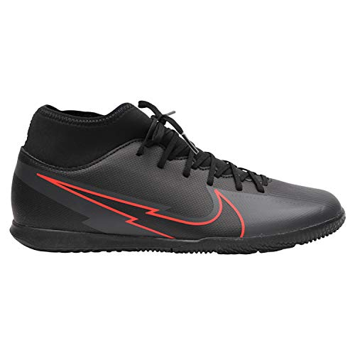 Nike Superfly 7 Club IC, Zapatillas de Futsal Hombre, Black Black Dk Smoke Grey, 45.5 EU
