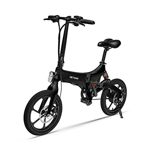 Jetson Metro Folding Electric Bike, White - Twist Throttle,...