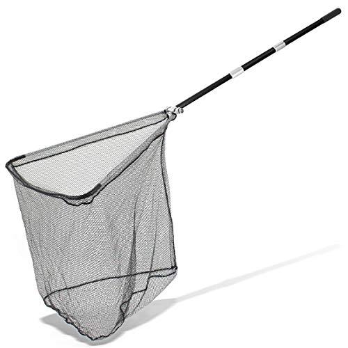 ARAPAIMA FISHING EQUIPMENT Kescher Angeln Teleskop Unterfangkescher gummiert Karpfen Hecht Teleskopkescher - 225cm - Schwarz