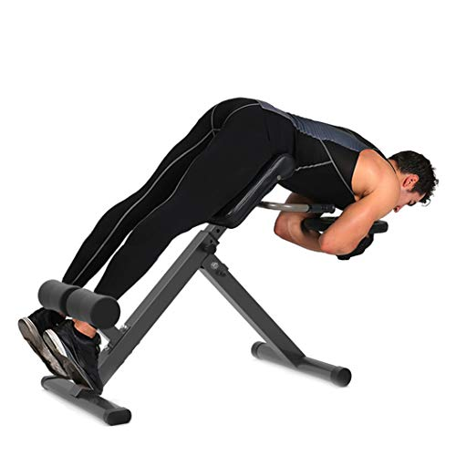 Adjustable Hyperextension Roman Chair, Folding Hyper Extension Bench for Strengthening Abs - Back Strength Training Machines for Home Gym