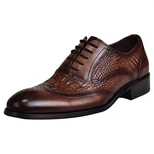 Estilo clásico superior hecho a mano PU zapatos de cuero para hombres...