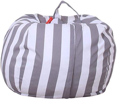 THEE Spielzeug Aufbewharungstasche Streife Sitzsack Aufbewahrung Beutel Lagerung (26 inch, Z-Grau)
